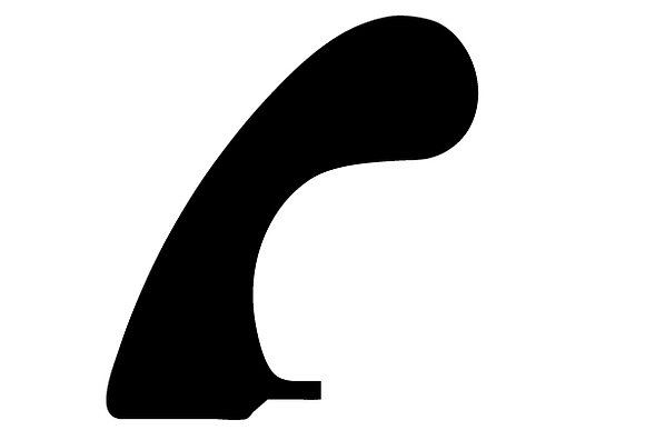 Fins longboard cut away