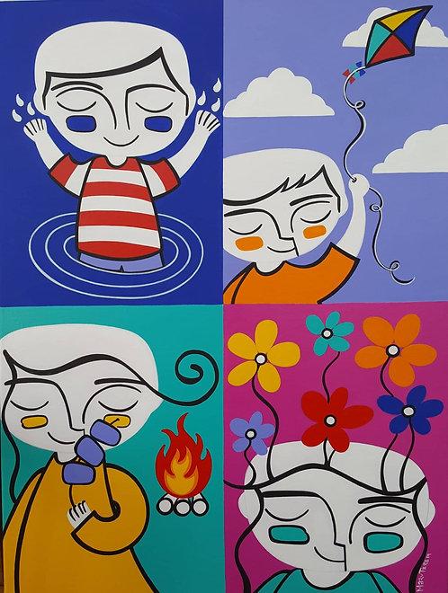 Iconos de Emociones / 4 elementos