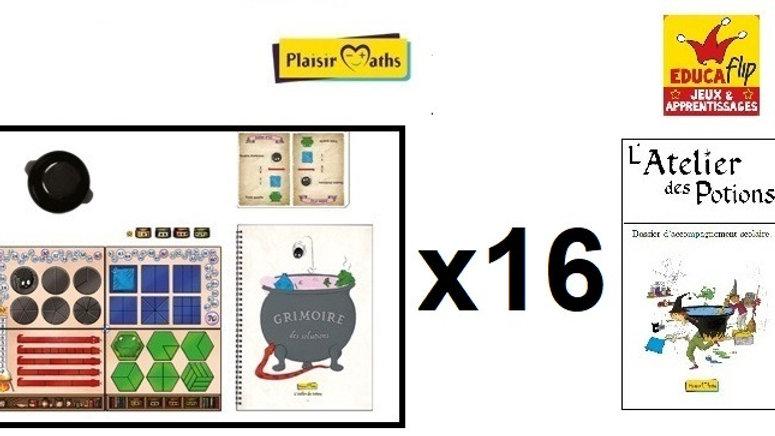 Atelier des Potions-Coffret scolaire 16 PLATEAUX: 16 élèves seul·es/32 en binôme