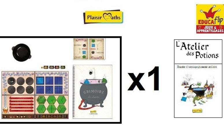 Atelier des Potions-Coffret scolaire 1 PLATEAU : 1 élève seul·e/2 en binôme