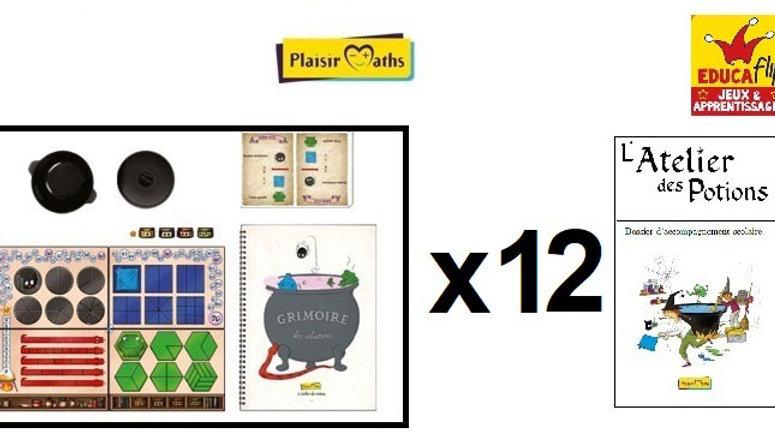 Atelier des Potions - Coffret scolaire 12 PLATEAUX (12 élèves en individuel)