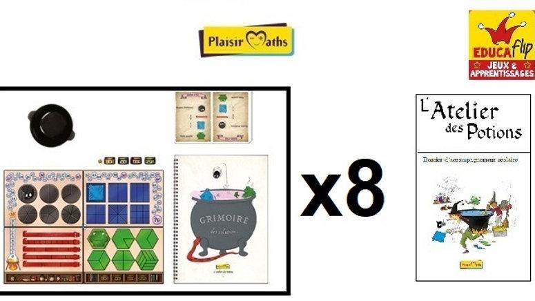 Atelier des Potions-Coffret scolaire 8 PLATEAUX : 8 élèves seul·es/16 en binôme