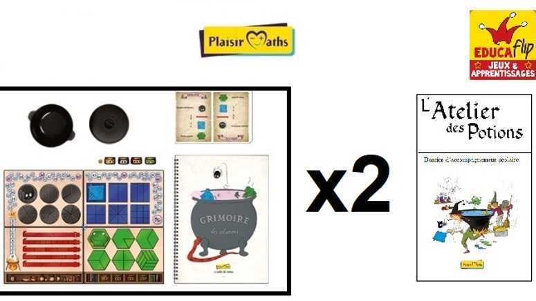 Atelier des Potions - Coffret scolaire 2 PLATEAUX (2 élèves en individuel)