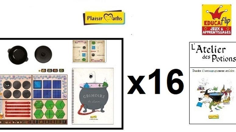 Atelier des Potions - Coffret scolaire 16 PLATEAUX (16 élèves en individuel)