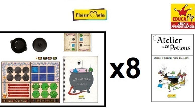 Atelier des Potions - Coffret scolaire 8 PLATEAUX (8 élèves en individuel)