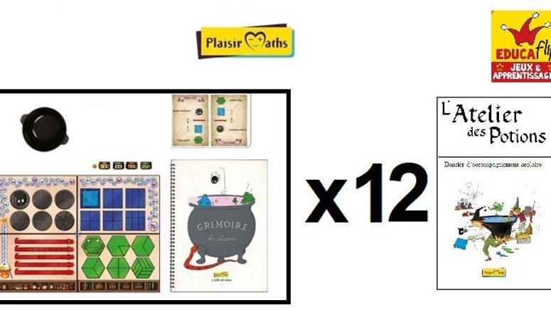 Atelier des Potions-Coffret scolaire 12 PLATEAUX: 12 élèves seul·es/24 en binôme