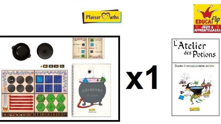 Atelier des Potions - Coffret scolaire 1 PLATEAU (1 élève en individuel)