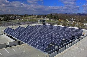 Solar Panel Field on parking lot, Virginia Tech