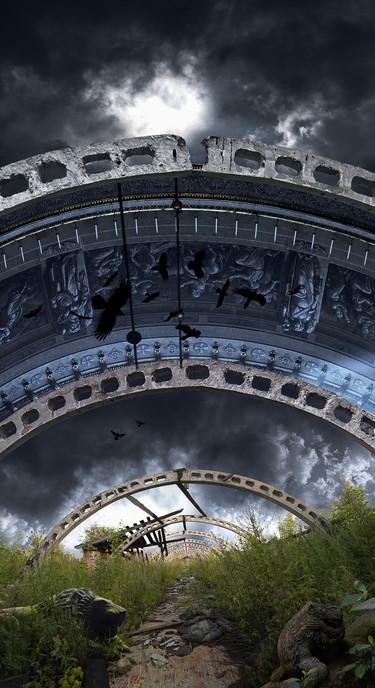 Chayan Khoi photographe arche-ruine-bleue