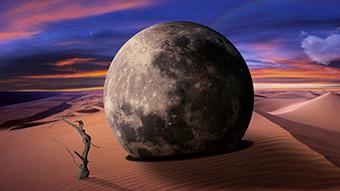 Chayan Khoi photographe lune dans le desert