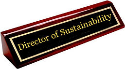 Director of Sustainability Name Card