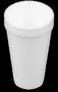 Polystyrene foam cup