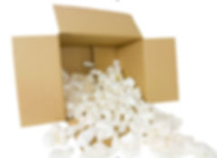 Packing Peanuts in box