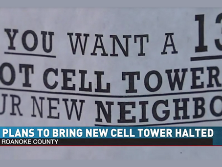 BREAKING NEWS: Hundreds of Vinton, Virginia Residents Stop 137-Foot Cell Tower