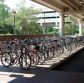Bike parking at MBTA