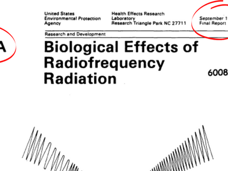 1984 EPA Report Highlights Major Biohazards Associated With Exposure to Wireless Radiation