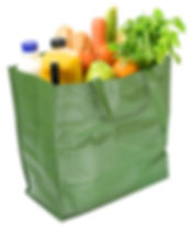 reusable shopping bag wit groceries