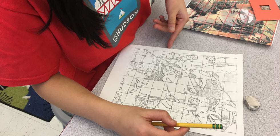Super Hero Grid Drawing Project
