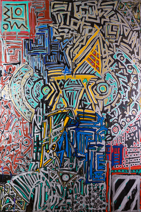 Title:  New Picasso By: Justin Hammer Dimensions: 60 x 40 inches  Please inquire for pricing.