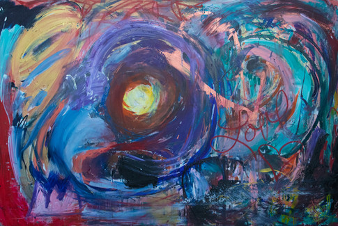 Title: Finding Our Light By: Justin Hammer and Paige Tighe Dimensions: 72 x 48 inches  Please inquire for pricing.