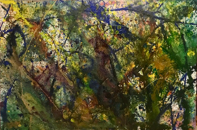 Title: Rain Forest  By: Justin Hammer Dimensions: 40 x 60 inches Year: 2018  Sold
