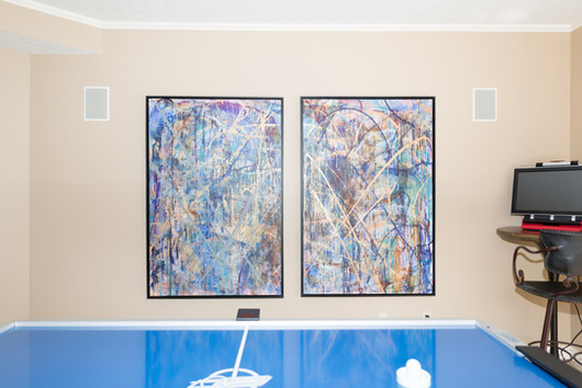 Title: The W By: Justin Hammer Dimensions: 60 x 40 inches (set of 2)  Sold