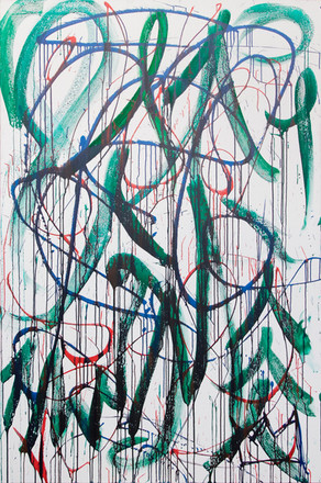 Title: Flow By: Justin Hammer Dimensions: 72 x 48 Year: 2018  Please inquire for pricing.