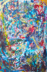 Title: We Are Puzzles I By: Justin Hammer and Kate Lantigua. Dimensions: 60 x 40 inches Year: 2016  Please inquire for pricing.