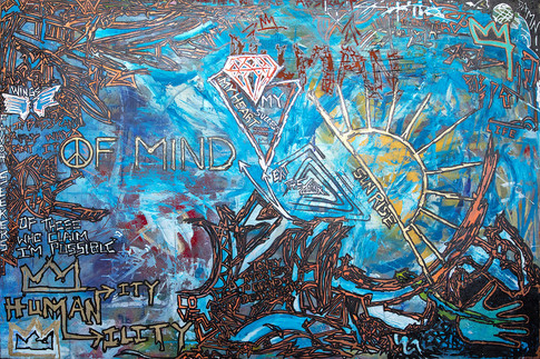 Title:  Peace Of Mind By: Justin Hammer Dimensions: 40 x 60 inches  Please inquire for pricing.