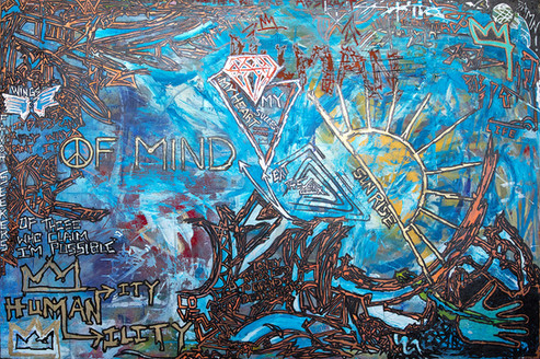 Title: Peace of Mind By: Justin Hammer Dimensions: 40 x 60 inches Year: 2017  Please inquire for pricing.