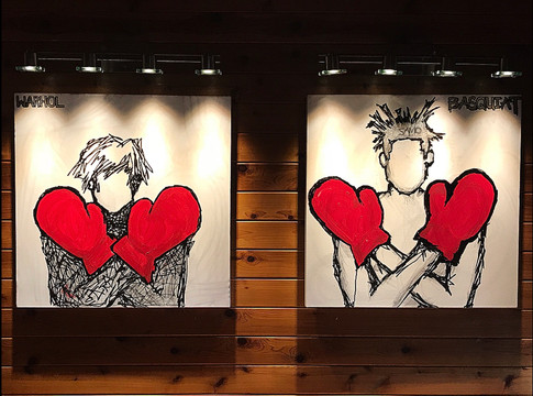 Title: Warhol & Basquiat By: Justin Hammer Dimensions: 36 x 36 inches (Set of 2)  Please inquire for pricing.