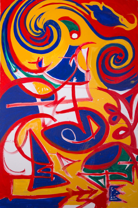 Title:  Current State of Mind By: Justin Hammer Dimensions: 60 x 40 inches  Please inquire for pricing.