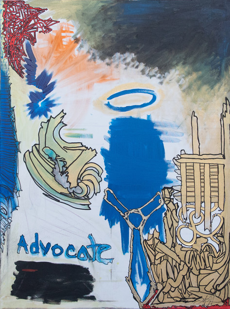 Title: The Advocate By: Justin Hammer Dimensions: 40 x 30 inches  Please inquire for pricing.