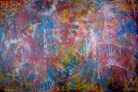 Title:  Passion Made Me By: Justin Hammer Dimensions: 48 x 72 inches  Please inquire for pricing.