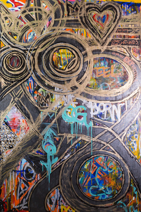 Title:  Life Cycles By: Justin Hammer Dimensions: 60 x 40 inches  Please inquire for pricing.