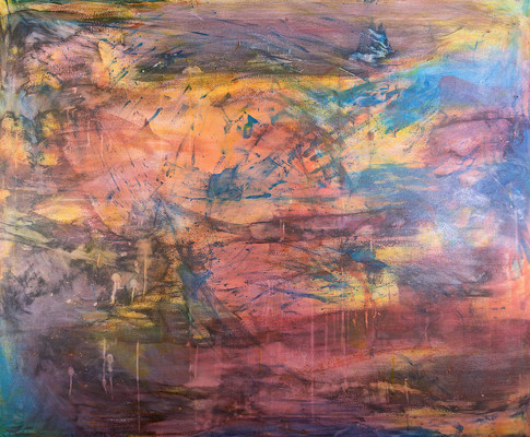 Title:  Feels Like Home By: Justin Hammer Dimensions: 48 x 60 inches  Please inquire for pricing.