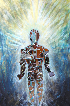 Title: Rising I By: Justin Hammer Dimensions: 60 x 40 inches Year: 2016  Please inquire for pricing.