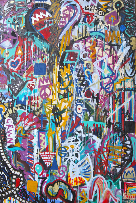 Title:  We Are Puzzles 4 By: Justin Hammer & Kate Lantigua Dimensions: 60 x 40 inches  Please inquire for pricing.
