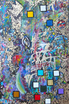 Title: We Are Puzzles III By: Justin Hammer and Kate Lantigua Dimensions: 40 x 60 inches Year: 2016  Sold