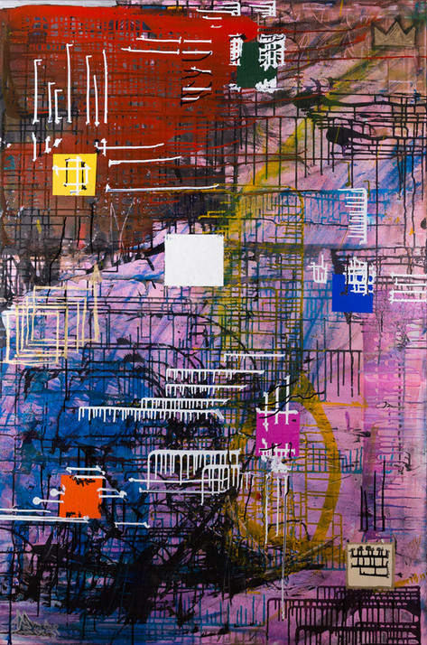 Title: Kyoto By: Justin Hammer and Danny Fryer Dimensions: 60 x 40 inches  Please inquire for pricing.