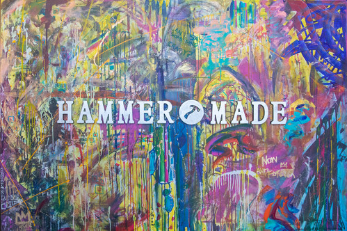 Title: HammerMade By: Justin Hammer Dimensions: 72 x 48 inches Year: 2017