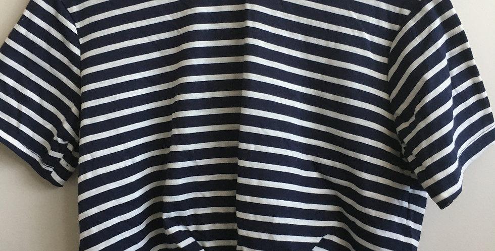 mrp blue and white stripe shirt