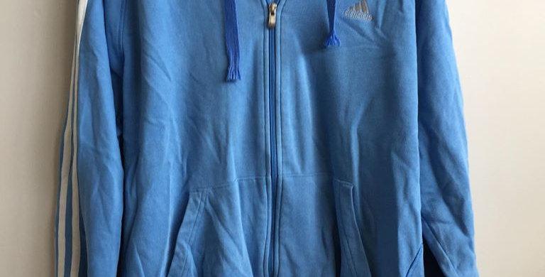 Adidas light blue hoodie