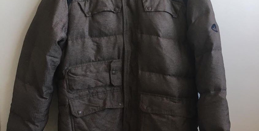 Adidas brown puffy jacket