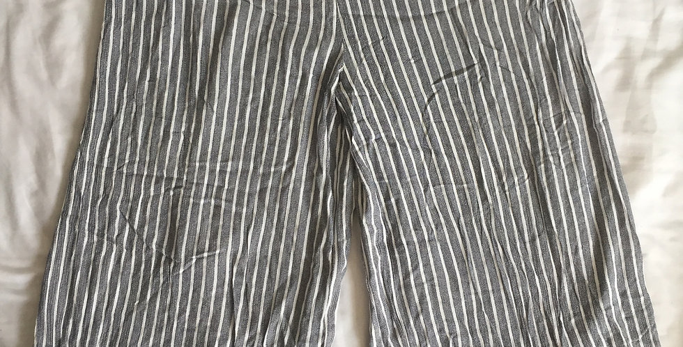 Cotton on grey striped pants