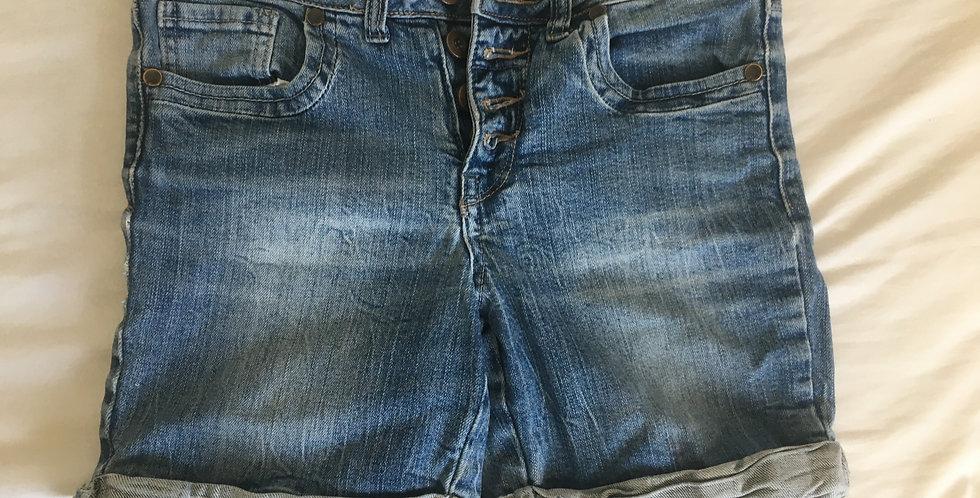 RE blue denim shorts knee length