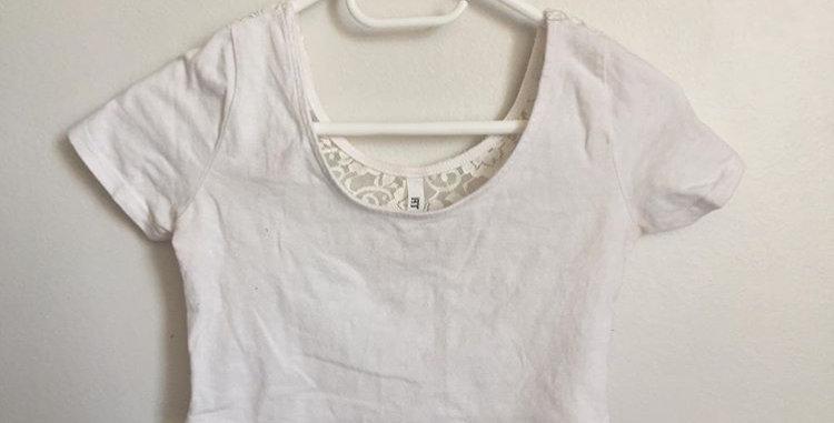 MrP white lace crop