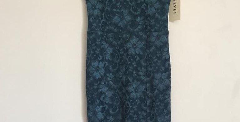 Velvet lace formal dress