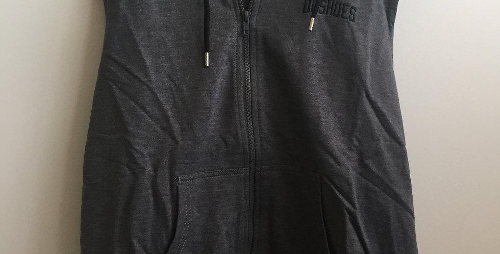 DC shoes grey sleeveless hoodie
