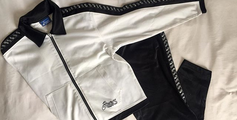 Asics black and white tracksuit set - AUTHENTI